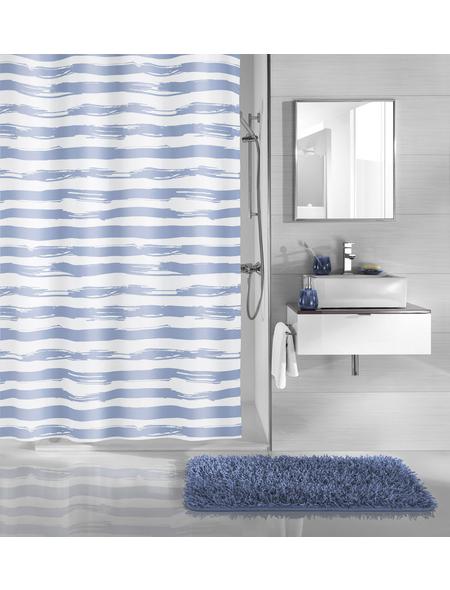 KLEINE WOLKE Duschvorhang »Stripy«, BxH: 180 x 200 cm, Streifen, blau