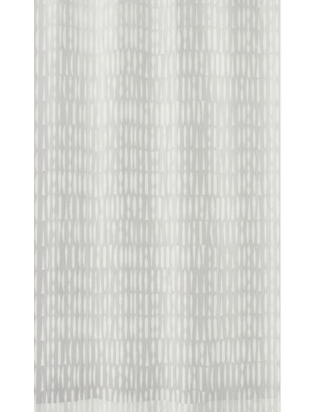 KLEINE WOLKE Duschvorhang »Zora«, BxH: 180 x 200 cm, Streifen, weiß