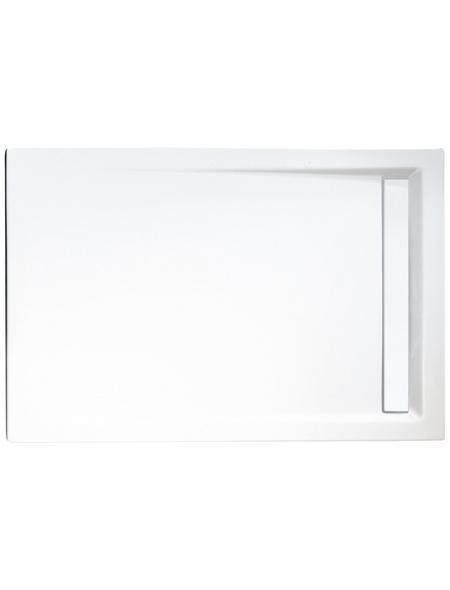 SCHULTE Duschwanne »ExpressPlus«, BxT: 90 x 120 cm, alpinweiß/chromfarben