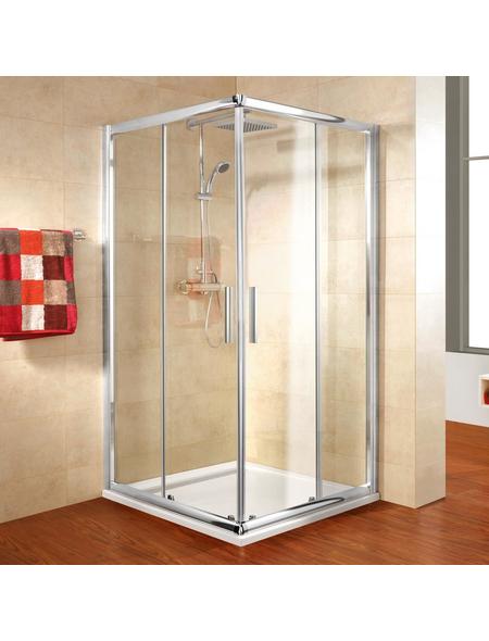 SCHULTE Eckdusche »Kristall/Trend«, BxTxH: 80 x 80 x 185 cm