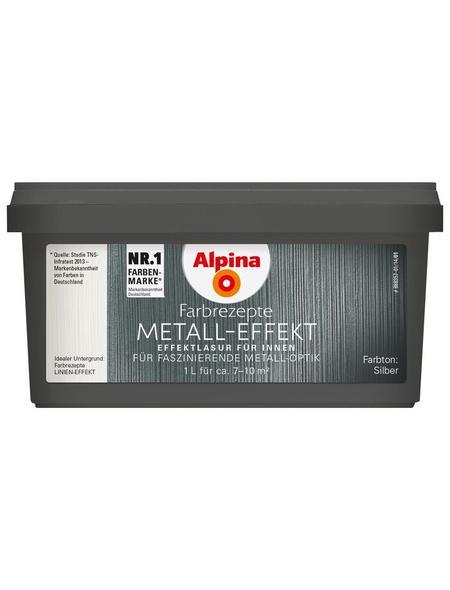 alpina Effektfarbe »Farbrezepte« in Metall-Optik, silberfarben, 1 l