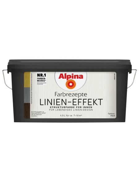 alpina Effektfarbe »Farbrezepte«, mit Linien-Effekt, weiß, 4,5 l