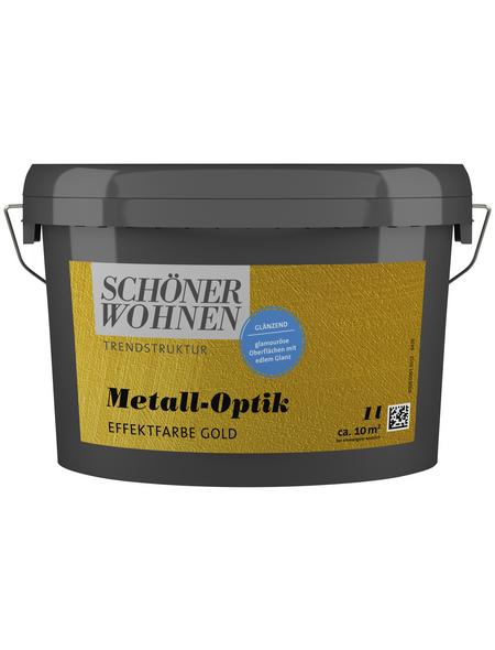 SCHÖNER WOHNEN FARBE Effektfarbe »Trendstruktur«, in Metall-Optik, goldfarben, 1 l