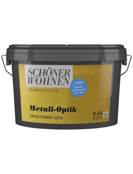 SCHÖNER WOHNEN FARBE Effektfarbe »Trendstruktur«, in Metall-Optik, goldfarben, 2,5 l