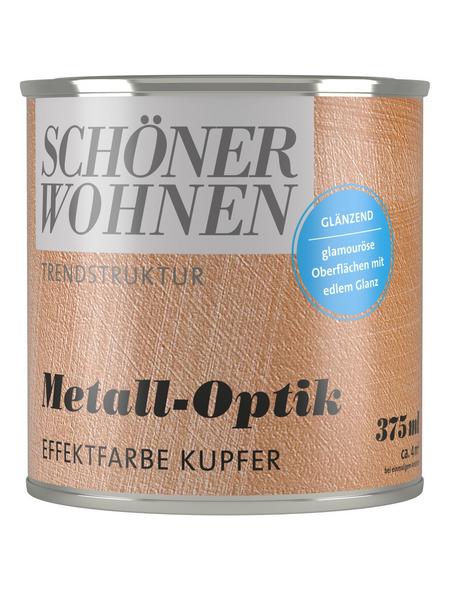 SCHÖNER WOHNEN FARBE Effektfarbe »Trendstruktur«, in Metall-Optik, kupferfarben, 0,375 l
