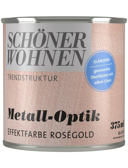 SCHÖNER WOHNEN FARBE Effektfarbe »Trendstruktur«, in Metall-Optik, rosegoldfarben, 0,38 l