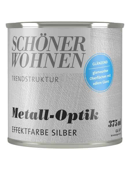 SCHÖNER WOHNEN FARBE Effektfarbe »Trendstruktur«, in Metall-Optik, silberfarben, 0,375 l
