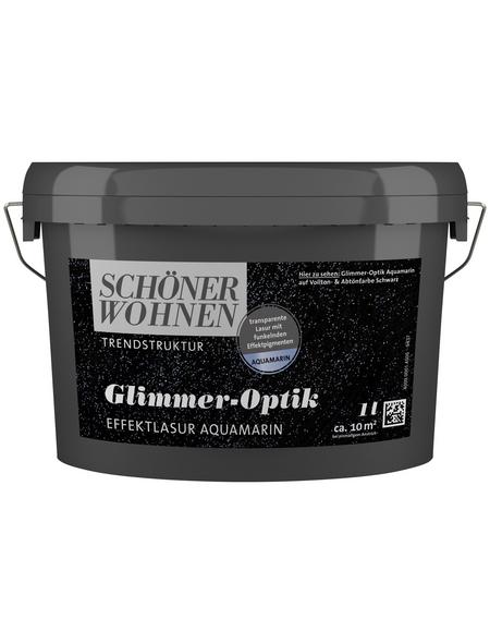 SCHÖNER WOHNEN FARBE Effektlasur »Trendstruktur«, in Glimmer-Optik, aquamarin, 1 l