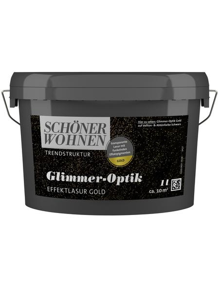 SCHÖNER WOHNEN FARBE Effektlasur »Trendstruktur«, in Glimmer-Optik, goldfarben, 1 l