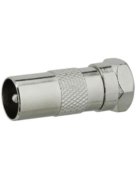 SCHWAIGER F-Adapter, Silber, Metall, Antennenkabel