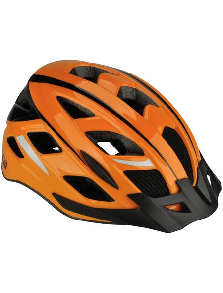 FISCHER FAHRRAEDER Fahrradhelm, Urban Sport, S/M, Orange, Klickverschluss
