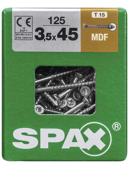 SPAX Faserplattenschraube, T-STAR plus, 125 Stk., 3,5 x 45 mm