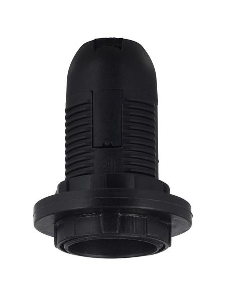 KOPP Fassung, Kunststoff, E14, schwarz