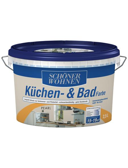SCHÖNER WOHNEN FARBE Feuchtraumfarbe »Küchen- und Badfarbe«, perlgrau, 2,5 l