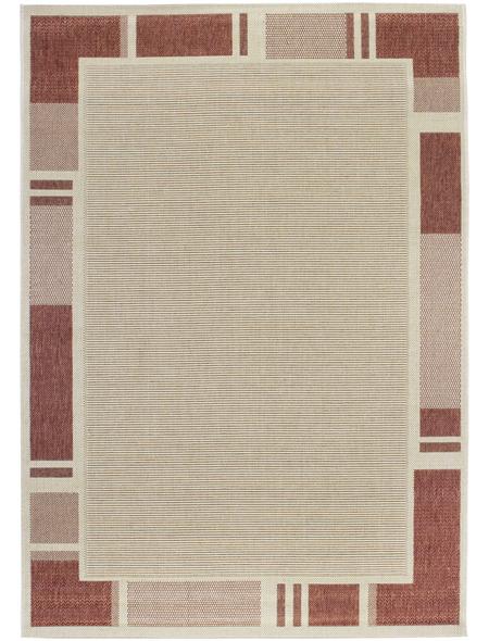 ANDIAMO Flachgewebe-Teppich »Louisiana«, BxL: 120 x 170 cm, beige/terrakottafarben