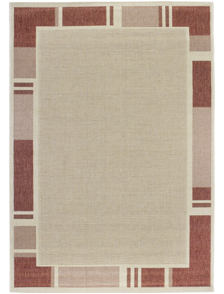 ANDIAMO Flachgewebe-Teppich »Louisiana«, BxL: 120 x 170 cm, terrakottafarben/beige