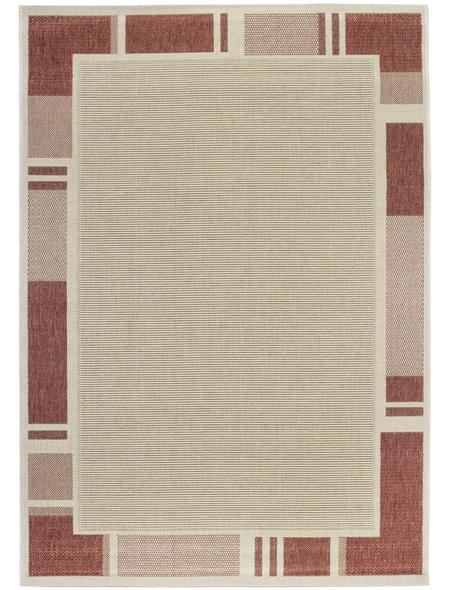 ANDIAMO Flachgewebe-Teppich »Louisiana«, BxL: 160 x 230 cm, beige/terrakottafarben