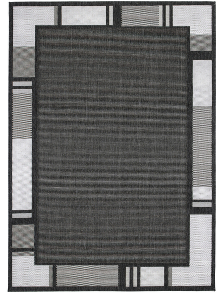 ANDIAMO Flachgewebe-Teppich »Louisiana«, BxL: 160 x 230 cm, silberfarben/anthrazit