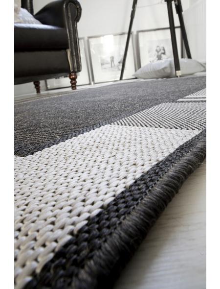ANDIAMO Flachgewebe-Teppich »Louisiana«, BxL: 60 x 110 cm, anthrazit/silberfarben