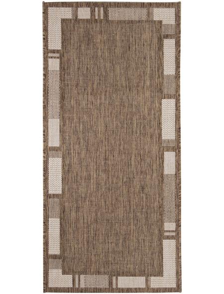 ANDIAMO Flachgewebe-Teppich »Louisiana«, BxL: 60 x 110 cm, braunbeige