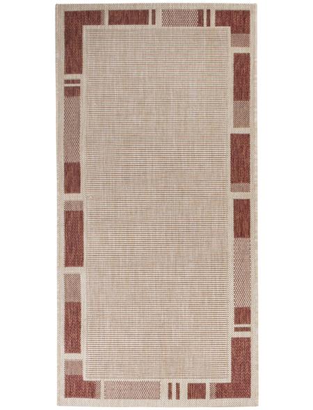 ANDIAMO Flachgewebe-Teppich »Louisiana«, BxL: 60 x 110 cm, terrakottafarben/beige