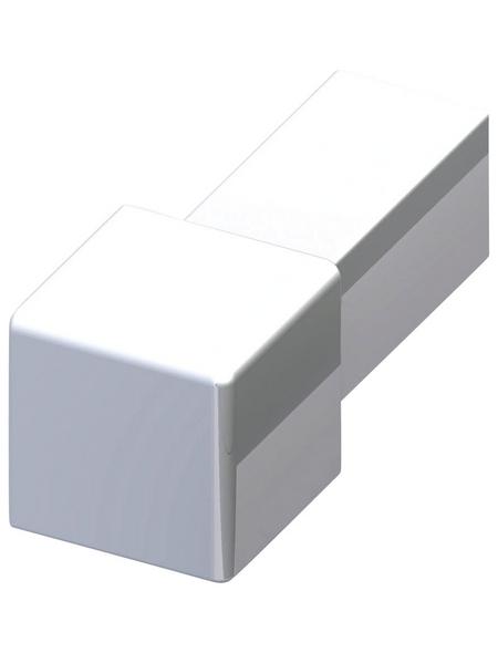 alfer® aluminium Fliesenquadrateck, Aluminium, BxL: 11,5 x 11,5 mm
