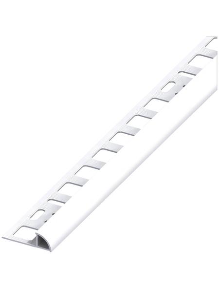 Flieseviertelkreisprofil PVC, 3000x10 mm weiss
