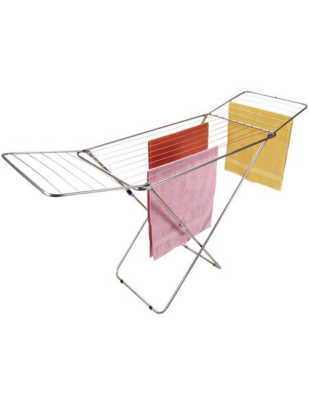 alpfa Flügelwäschetrockner, LxBxH: 72 x 55 x 136,5 cm, Grau, Metall