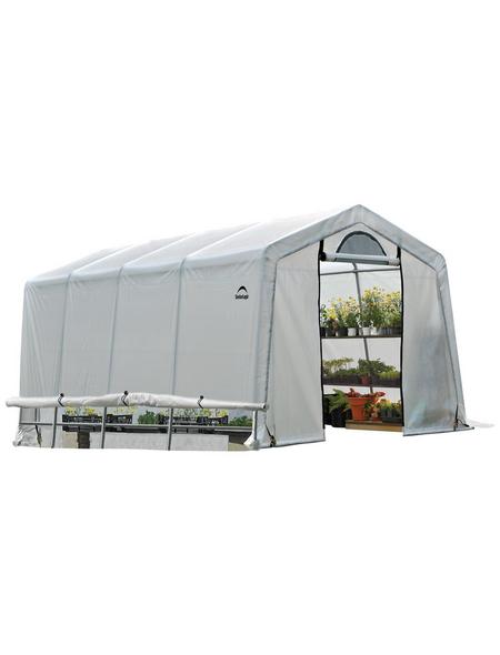 SHELTERLOGIC Folien-Gewächshaus, 18,3 m², Stahl/Kunststoff