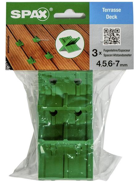 SPAX Fugenlehre, Kunststoff, 4, 5, 6 + 7 mm, 3 Stk.