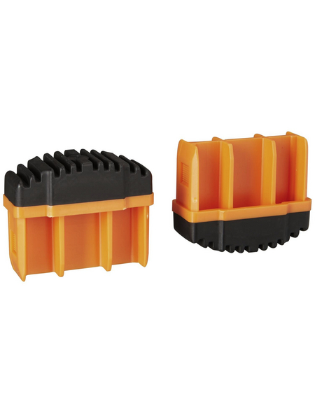 KRAUSE Fußstopfen, BxHxT: 6,4 x 5,3 x 2,5 cm, Kunststoff, schwarz/orange