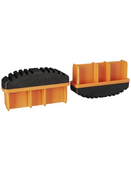 KRAUSE Fußstopfen, BxHxT: 9,7 x 5,7 x 2,5 cm, Kunststoff, schwarz/orange