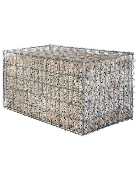 BELLISSA Gabionenfeingitter, BxHxL: 0,4 x 49,3 x 49,3 cm, Stahl