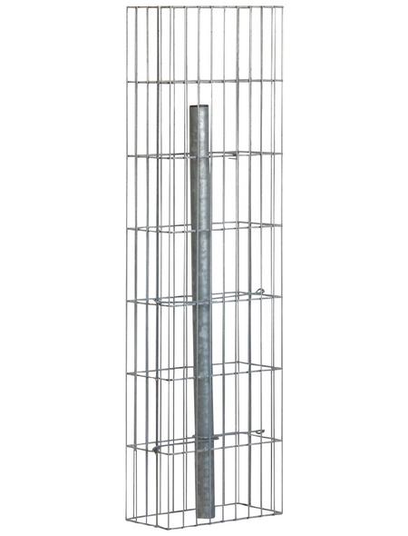 BELLISSA Gabionenstele »Pronto«, BxHxL: 15 x 105 x 30 cm, Stahl