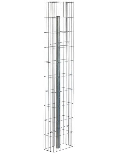 BELLISSA Gabionenstele »Pronto«, BxHxL: 15 x 150 x 30 cm, Stahl