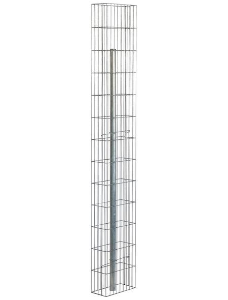 BELLISSA Gabionenstele »Pronto«, BxHxL: 15 x 195 x 30 cm, Stahl