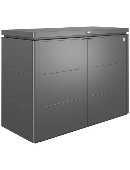BIOHORT Gartenbox »HighBoard«, BxHxT: 160 x 118 x 70 cm, dunkelgrau-metallic