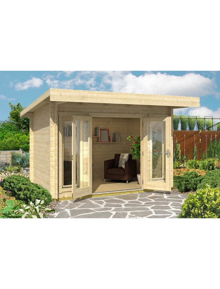 LASITA MAJA Gartenhaus »Barbados«, BxT: 390 x 350 cm (Aufstellmaße), Flachdach
