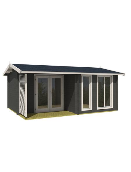 LASITA MAJA Gartenhaus »Brighton«, BxT: 580 x 430 cm (Aufstellmaße), Satteldach