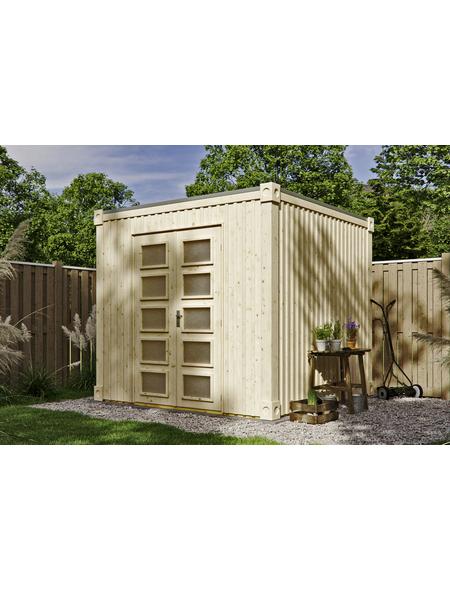 SKANHOLZ Gartenhaus »Cube«, BxT: 250 x 250 cm (Aufstellmaße), Flachdach