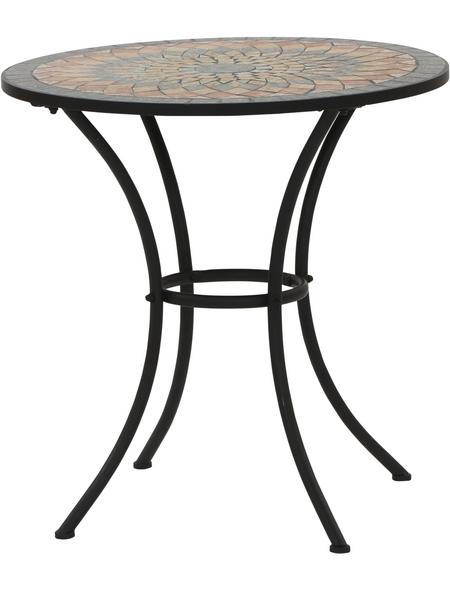 SIENA GARDEN Gartentisch »Prato«, ØxH: 70 x 71 cm, Tischplatte: Stahl