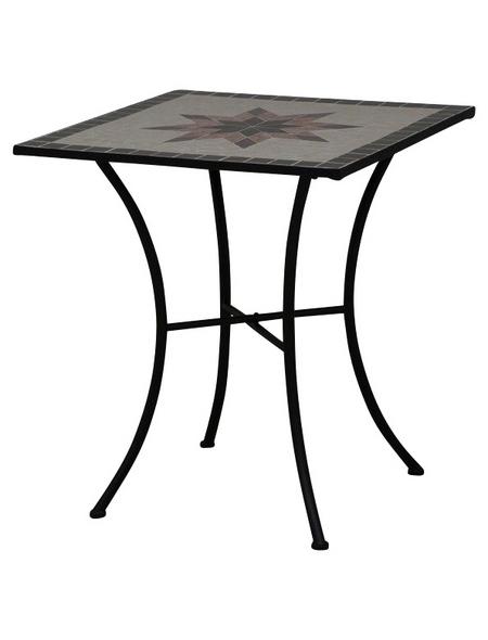SIENA GARDEN Gartentisch »Stella«, mit Keramik-Tischplatte, BxTxH: 64 x 64 x 71 cm