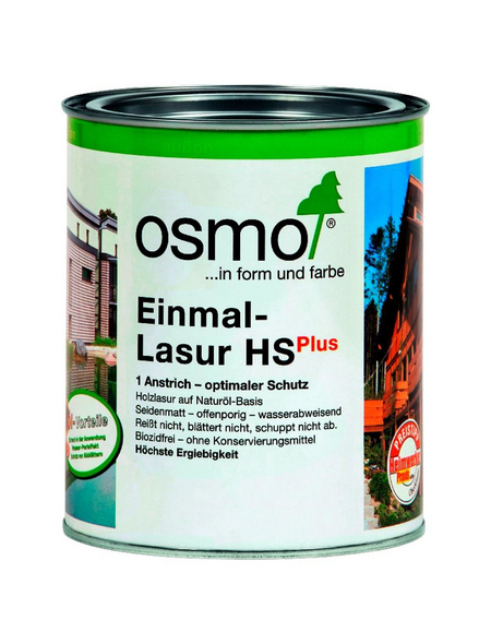 OSMO Holzlasur »HS Plus«, für außen, 0,75 l, Nussbaum, seidenmatt