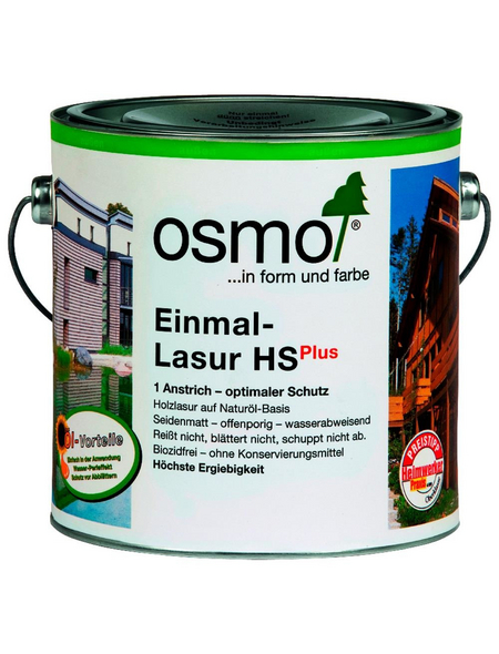OSMO Holzlasur »HS Plus«, für außen, 2,5 l, Kiefer, seidenmatt