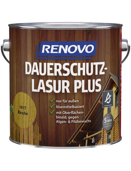 RENOVO Holzschutz-Lasur »PLUS«, Farbton Kirsche, für außen, 4 l