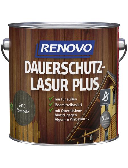 RENOVO Holzschutz-Lasur »PLUS« für außen, 4 l, Ebenholz