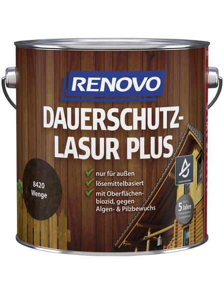 RENOVO Holzschutz-Lasur »PLUS« für außen, 4 l, Wenge