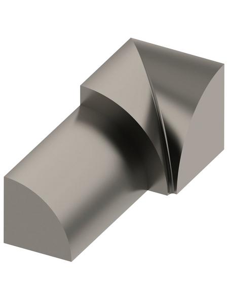 alfer® aluminium Innenecke, aus Edelstahl, für Fliesenmaß 10 mm