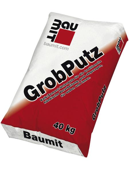 BAUMIT Kalk/Zementtrockenfertigmörtel, 4mm Körnung, Weiß, 40 kg