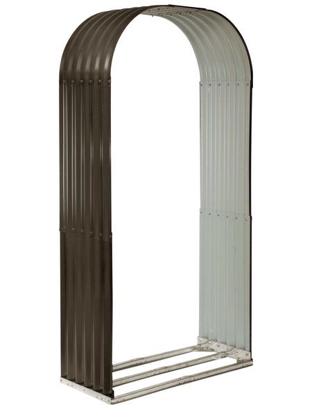 FLORAWORLD Kaminholzunterstand »Rundbogen«, BxHxL: 103 x 200 x 40 cm, anthrazit